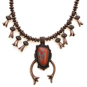 Necklace 1805 47 Oori navajo stone arc necklace copper red