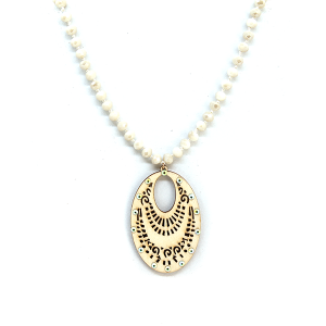 Necklace 1725a 47 Oori W western chic bead filigree necklace ivory