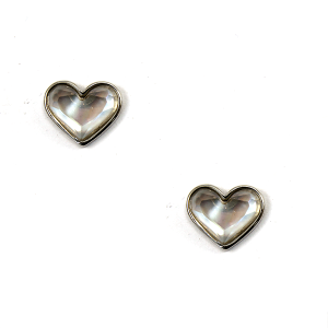 Earring 1191f 50 It's Sense stud gem heart earrings silver white