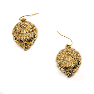 Earring 716b 50 It's Sense gold lion earrings