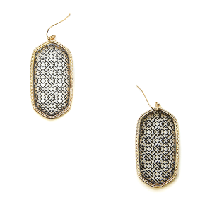 Earring 1587 50 It's Sense hex filigree earrings gold silver
