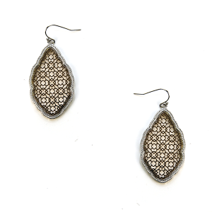 Earring 2876e 50 It's Sense contemporary filigree earrings gold silver