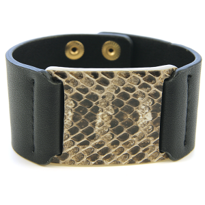 Bracelet 416 50 It's Sense snake leather bracelet black