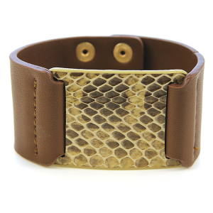 Bracelet 415 50 It's Sense snake leather bracelet brown
