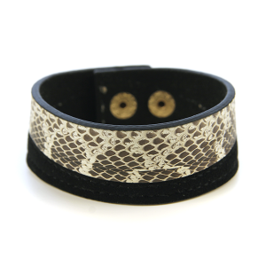 Bracelet 554 50 It's Sense snake leather bracelet black
