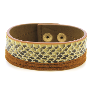 Bracelet 630 50 It's Sense snake leather bracelet brown