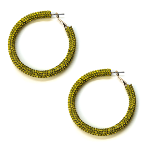 Earring 811l 50 It's Sense rhinestone earrings hoop yellow