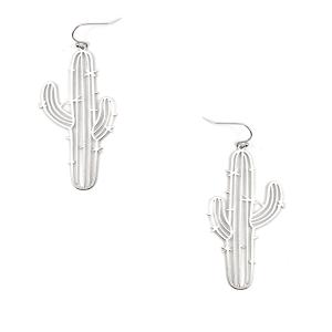 Earring 3838a 50 It's Sense cactus earrings silver