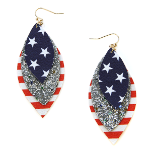Earring 1116b 50 It's Sense tear drop america earrings usa