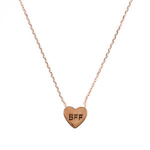 neck 1547j 54 Lucky Charm heart BFF rose gold