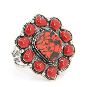 Bracelet 500e 58 Marvel stone tribal cuff red