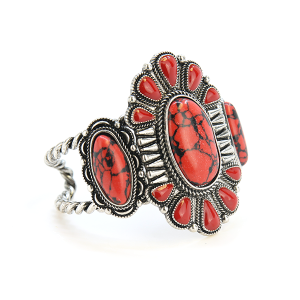Bracelet 688l 58 Marvel concho stone cuff red
