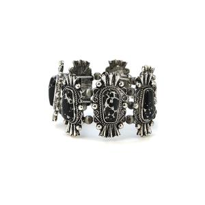 Bracelet 148a 58 Marvel navajo bracelet stone link stretch black
