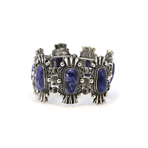 Bracelet 153a 58 Marvel navajo bracelet stone link stretch blue