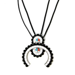 Necklace 1070 58 Marvel navajo style arc string necklace