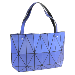 YI 6010 geometric shoulder bag blue