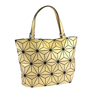 YI 6112 geometric shoulder bag gold