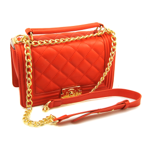 Caleesa quilted leather shoulder bag crossbody 6240 red
