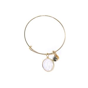 Bracelet 143a 64 Isles & Stars mother pearl nacre letter bracelet - B