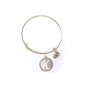 Bracelet 157c 64 Isles & Stars mother pearl nacre letter bracelet - K