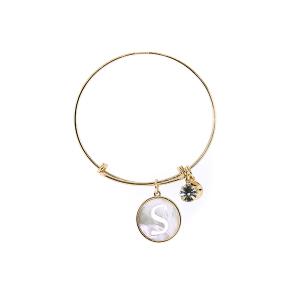 Bracelet 192a 64 Isles & Stars mother pearl nacre letter bracelet - S