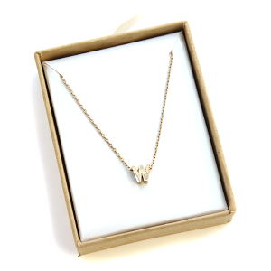 "Necklace 2059 64 Isles & Stars letter necklace ""W"" - Gold"