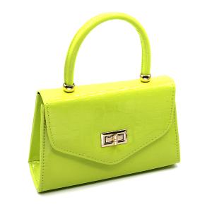 Caleesa 6624 single handle mini bag croc yellow