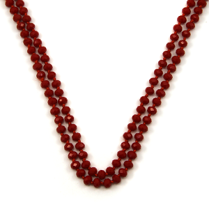 Necklace 586a 30 60 inch bead necklace 80 red