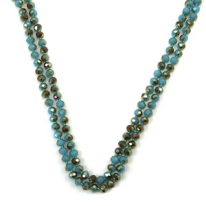 Necklace 060t 30 60 inch bead necklace turquoise 350