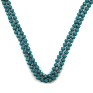 Necklace 1723 67 FJ 30 60 inch bead necklace turquoise 73