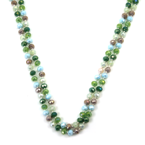 Necklace 126b 30 60 inch bead necklace green mt7