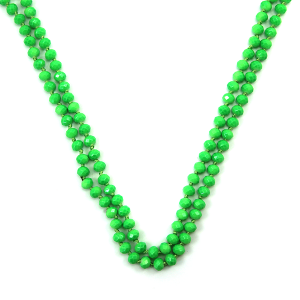 Necklace 164a 30 60 inch bead necklace neon green