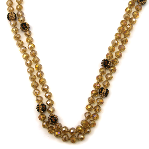 Necklace 939c 67 30 60 inch bead necklace leopard bead accents 11