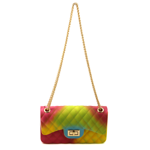 Caleesa rainbow quilted jelly crossbody 7057-A
