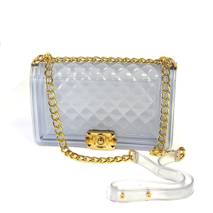 Caleesa Jelly Clear Crossbody Quilted Style 7060