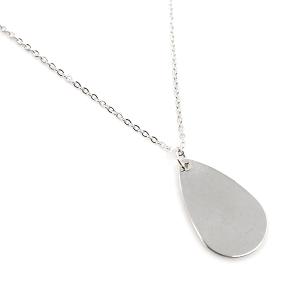 Necklace 182 70 H simple tear drop necklace silver
