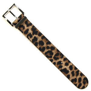 Bracelet 578e 70 leopard print buckle leather bracelet