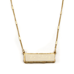 Necklace 1227c 71 Viola Be Strong necklace ivory gold