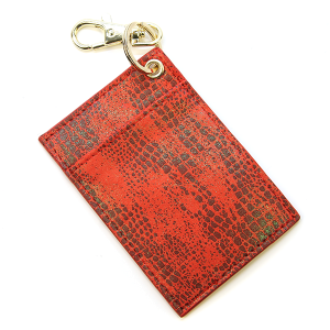 Keychain 051 Card Holder scale print AB red