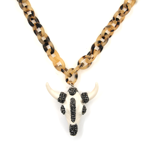 Necklace 535d 76 Make A Wish tortoise chain longhorn ivory