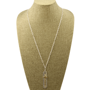 Necklace 1562b 77 Pomina long chain cross silver gold