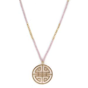 Necklace 2088 77 Pomina filigree bead necklace purple gold