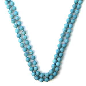 Necklace 1084 77 Pomina semi precious bead necklace turquoise