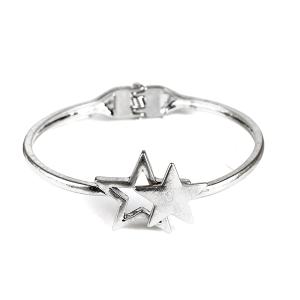 Bracelet 074a 77 Pomina contemporary star bangle silver