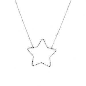 Necklace 898b 77 Pomina contemporary star necklace silver