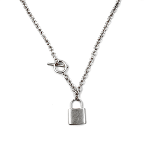 Necklace 991a 77 Pomina lock toggle necklace silver