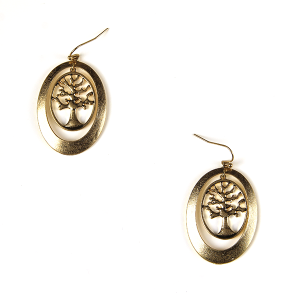 Earring 1150a 77 Pomina contemporary tree of life earrings gold