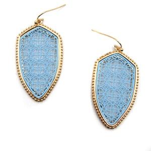 Earring 4727 77 Pomina contemporary filigree shield earrings gold blue