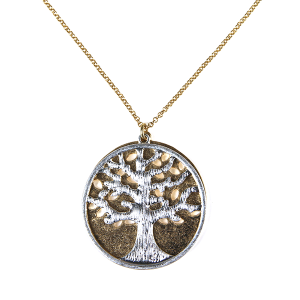 Necklace 959a 77 Pomina tree of life necklace gold silver