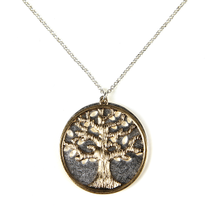 Necklace 958a 77 Pomina tree of life necklace silver gold
